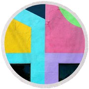 Point Counterpoint Round Beach Towel