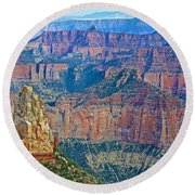 Point Imperial At 8803 Feet On North Rim Of Grand Canyon National Park-arizona   Round Beach Towel