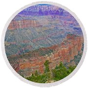 Point Imperial On North Rim Of Grand Canyon National Park-arizona   Round Beach Towel