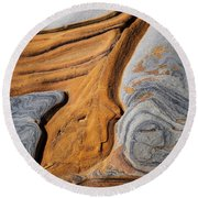 Point Lobos Abstract 5 Round Beach Towel
