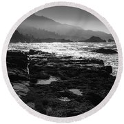 Point Lobos Round Beach Towel
