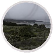 Point Lobos National Park Round Beach Towel