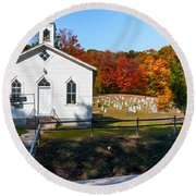 Point Mountain Community Church - Wv Round Beach Towel