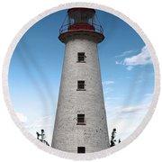 Point Prim Lighthouse 3 Round Beach Towel