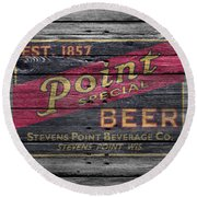 Point Special Beer Round Beach Towel