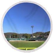 Point Stadium - Johnstown Round Beach Towel