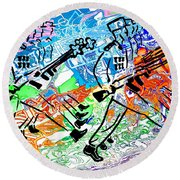 Point Your Toes For The Great Leader 20150223 Round Beach Towel