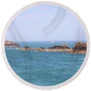 Pointe Du Grouin - Brittany Round Beach Towel