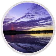 Pointed Light Round Beach Towel