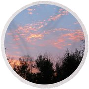 Points Of Light Round Beach Towel