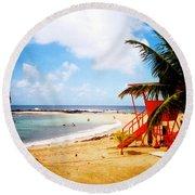 Poipu Beach Kauai Hawaii Round Beach Towel