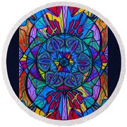 Poised Assurance Round Beach Towel