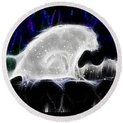 Polar And Snow Round Beach Towel