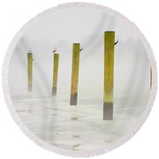 Poles Round Beach Towel
