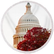 Politics Seeing Red Round Beach Towel by Greg Fortier
