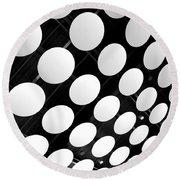 Polka Dots Round Beach Towel