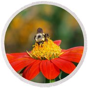 Pollinator Round Beach Towel