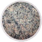 Pollock's Number 1 -- 1950 -- Lavender Mist Round Beach Towel