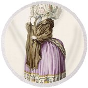 Polonoise, Engraved By Voysard, Plate Round Beach Towel