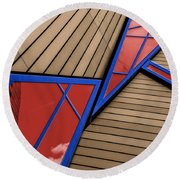 Polygons Round Beach Towel