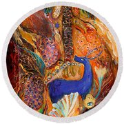 Polyptich Part Iv - Earth Round Beach Towel