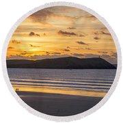 Polzeath Sunset 4 Round Beach Towel