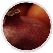 Pomegranate Still Life Round Beach Towel