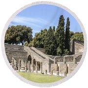 Pompeii 2 Round Beach Towel