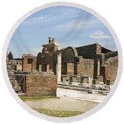 Pompeii 3 Round Beach Towel