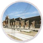Pompeii 5 Round Beach Towel