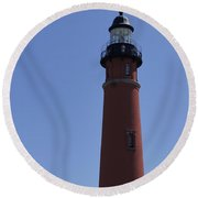 Ponce Inlet Light Round Beach Towel