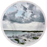 Ponce Inlet Mood Round Beach Towel