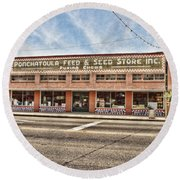 Ponchatoula Feed And Seed Round Beach Towel