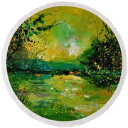 Pond 5431 Round Beach Towel