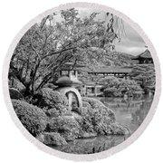 Pond At Heian Shrine - Kyoto Round Beach Towel