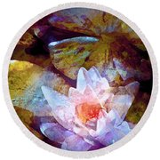 Pond Lily 26 Round Beach Towel