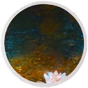 Pond Lily 27 Round Beach Towel