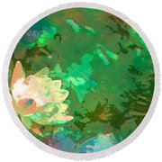 Pond Lily 31 Round Beach Towel
