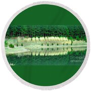 Ponderings Round Beach Towel