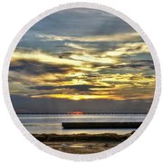 Pontchartrain Sunset Round Beach Towel