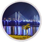 Ponte Estaiada De Aracaju - Construtor Joao Alves Round Beach Towel