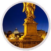 Ponte Sant Angelo Round Beach Towel