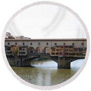 Ponte Vecchio I Round Beach Towel