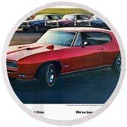 Pontiac Gto - 1964 1965 1966 1967 1968 Round Beach Towel
