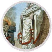 Pontifex Maximus, Illustration Round Beach Towel