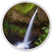 Ponytail Falls - Columbia River Gorge - Oregon Round Beach Towel