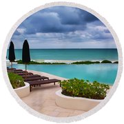 Pool At Rosewood Mayakoba Round Beach Towel