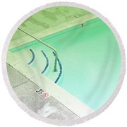Pool Steps Shallow End Round Beach Towel