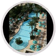 Pool1112b Round Beach Towel