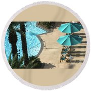 Pooldeck1145b Round Beach Towel